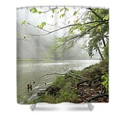 Rocky River #1 Shower Curtain