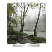Rocky River #2 Shower Curtain