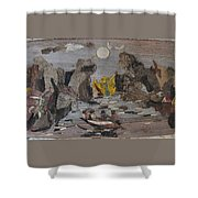 Rocky River Shower Curtain