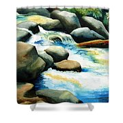 Rocky River Run Shower Curtain