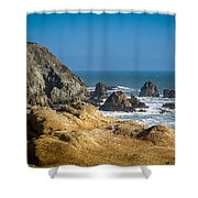 Rocky Shore Shower Curtain