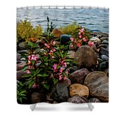 Rocky Shores Of Lake St. Clair- Michigan Shower Curtain