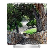 Rocky Stairway Ll Shower Curtain