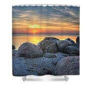 Rocky Sunset Shower Curtain