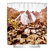 Rocky Water Wilderness Shower Curtain