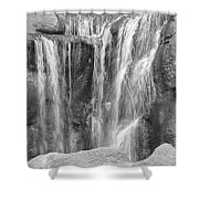 Rocky Waterfall Shower Curtain