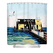 Rod And Reel Fishing Pier Shower Curtain