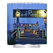 Rod And Reel Pier Shower Curtain