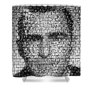 Rod Serling Twilight Zone Mosaic Shower Curtain
