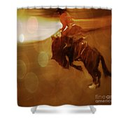 Rodeo Abstract Shower Curtain