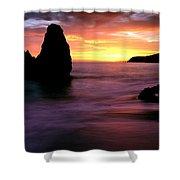 Rodeo Beach At Sunset, Golden Gate Shower Curtain