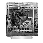 Rodeo Bull Riding 1 Shower Curtain