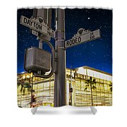 Rodeo Dr. And Dayton Way Shower Curtain