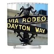 Rodeo Drive In Beverly Hills Shower Curtain