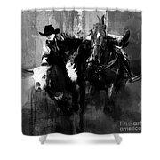 Rodeo In Black Shower Curtain