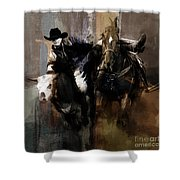 Rodeo Painting Shower Curtain