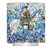 Rodeo Wrangler Mosaic Shower Curtain