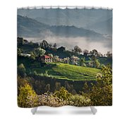 Rodopi Moutain  Shower Curtain