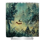 Roe Deers In September Morning Light Shower Curtain