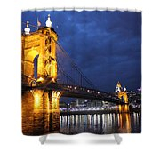 Roebling At Night Shower Curtain