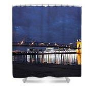 Roebling Bridge Span Shower Curtain