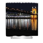 Roebling Bridge Shower Curtain