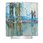 Roebling On The Ohio River Shower Curtain