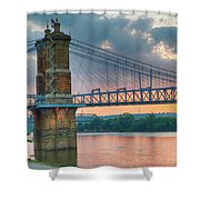 Roebling Suspension Bridge - Cincinnati, Ohio Shower Curtain