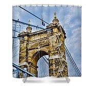 Roebling Suspension Bridge Shower Curtain
