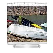 Rowboats Ashore  Shower Curtain