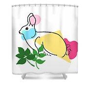 Roger Bunny Shower Curtain