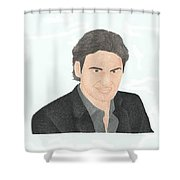Roger Federer Shower Curtain
