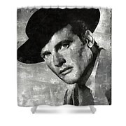 Roger Moore Hollywood Actor Shower Curtain