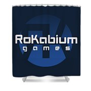 Rokabium Games Logo Shower Curtain