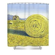 Roll Away The Dew Shower Curtain
