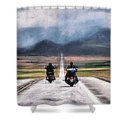 Roll Me Away Shower Curtain