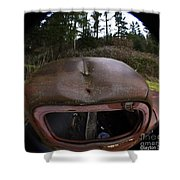 Roll Over Old Truck Shower Curtain