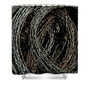 Rolled Barbed Wire-signed-#1936 Shower Curtain