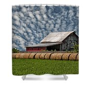 Rolled Up - Hay Rolls And Barn Shower Curtain