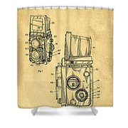 Rolleiflex Medium Format Twin Lens Reflex Tlr Patent Shower Curtain