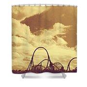Roller Coaster Rides Shower Curtain