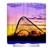 Rollercoaster Of Life Shower Curtain