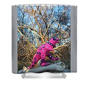 Rolling Ahead Shower Curtain