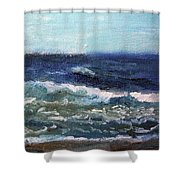 Rolling Along Shower Curtain