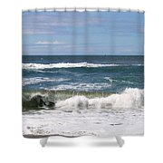 Rolling Ashore Shower Curtain