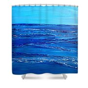 Rolling Blue, Triptych 3 Of 3 Shower Curtain