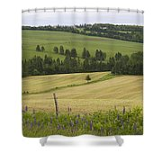 Rolling Farmland Stretches Shower Curtain