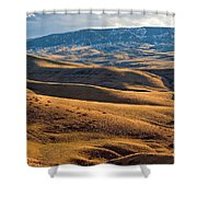 Rolling Foothills And The Bighorn Mountains Shower Curtain