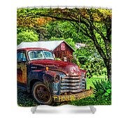 Rolling For Jesus Shower Curtain