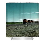 Rolling Freight Train Shower Curtain